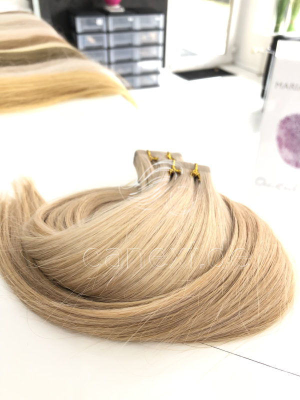 Sandblond White Tape In Extensions Canext