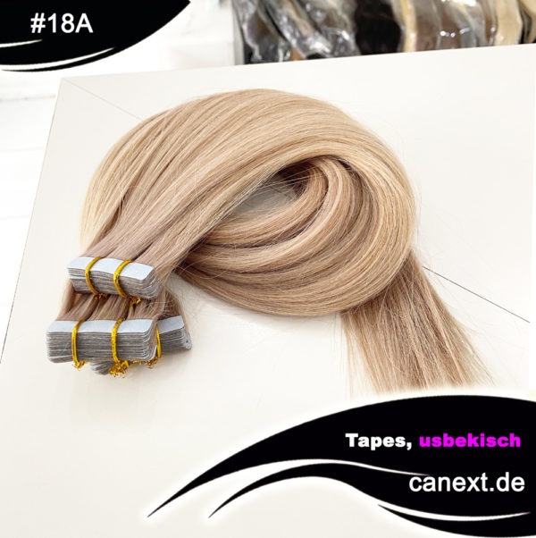 Farbe 18A Pearlaschblond Extensions Tape in